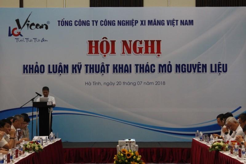 """Tổng công ty Công nghiệp xi măng Việt Nam tổ chức Hội nghị """"Khảo luận kỹ thuật khai thác mỏ nguyên liệu"""""""