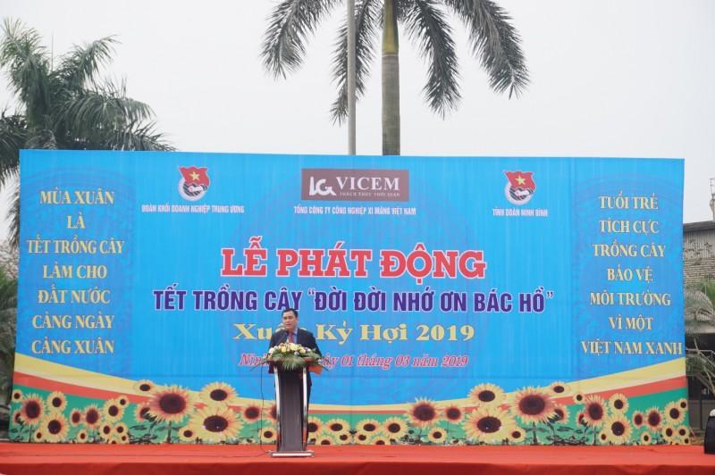 """Lễ ra quân """"Tết trồng cây Đời đời nhớ ơn Bác Hồ"""" Xuân Kỷ Hợi năm 2019 của Đoàn Thanh niên VICEM"""