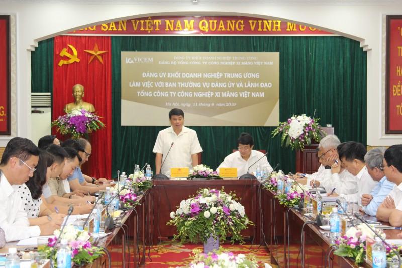 Đảng ủy Khối Doanh nghiệp Trung ương làm việc với VICEM