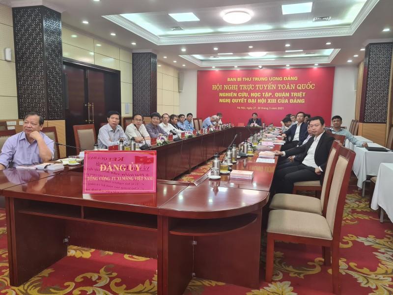 Đảng ủy Tổng công ty Xi măng Việt Nam tham gia nghiên cứu, học tập, quán triệt, Nghị quyết Đại hội XIII của Đảng
