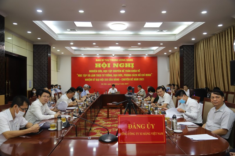 """Đảng ủy VICEM tham gia Hội nghị nghiên cứu, học tập chuyên đề toàn khóa về """"học tập và làm theo tư tưởng, đạo đức, phong cách Hồ Chí Minh"""" NK XIII"""