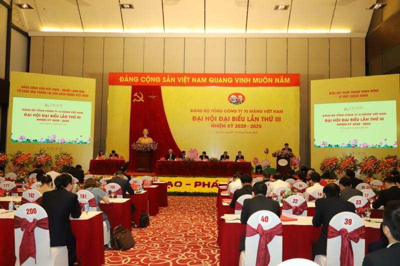 Đại hội đại biểu Đảng bộ Tổng công ty Xi măng Việt Nam lần thứ III, nhiệm kỳ 2020-2025 thành công tốt đẹp.