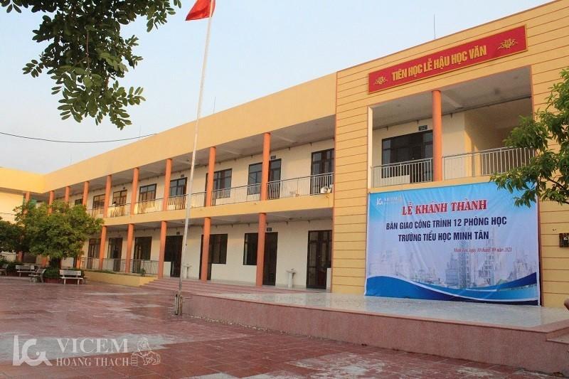 Vicem Hoàng Thạch khánh thành & bàn giao 12 phòng học cho trường tiểu học Minh Tân