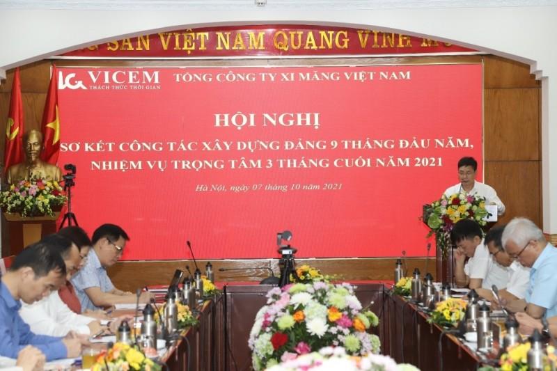 Đảng bộ Tổng công ty Xi măng Việt Nam Sơ kết công tác Xây dựng Đảng 9 tháng đầu năm 2021