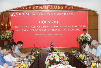 dang bo tong cong ty xi mang viet nam so ket cong tac xay dung dang 9 thang dau nam 2021